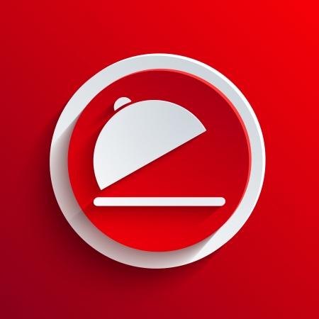 красный значок: