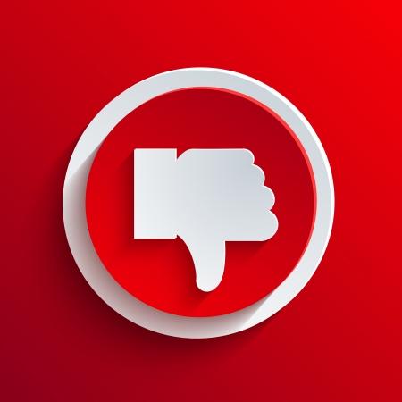 Vector red circle icon. Stock Vector - 21377572