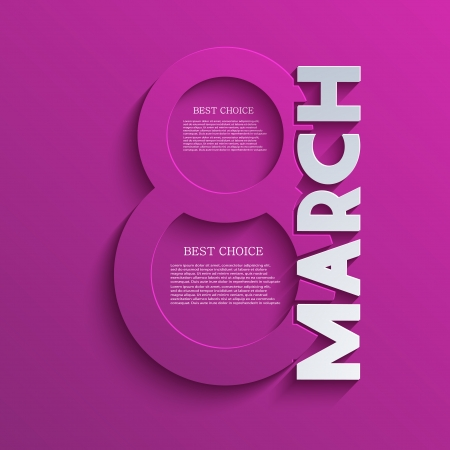 Vector women's day background. Eps10 Illustration