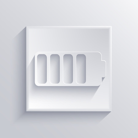 cell charger: Vector light square icon. Eps 10 Illustration