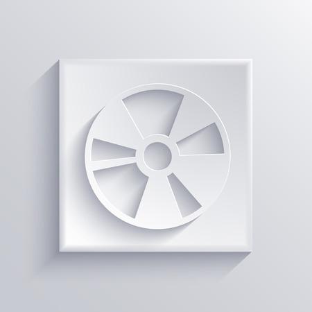 blueray: Vector light square icon. Eps 10 Illustration