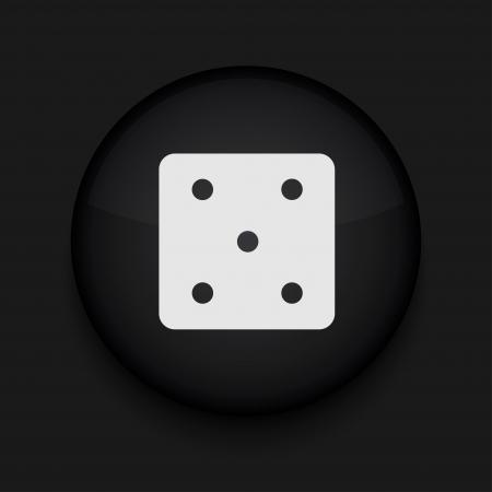 Vector black circle icon. Eps10 Vector