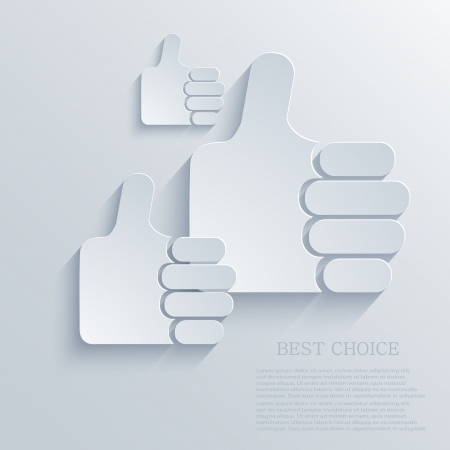 Vector thumb up icon background. Eps10 Vector
