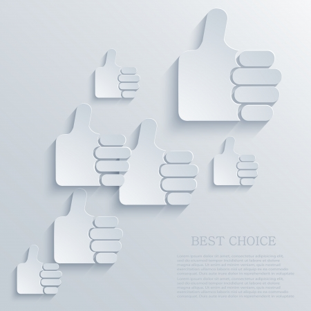 Vector thumb up icon background. Eps10 Stock Vector - 22452664