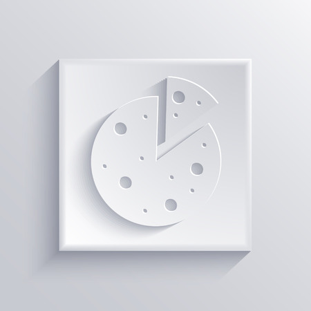Vector light square icon. Eps 10 Vector