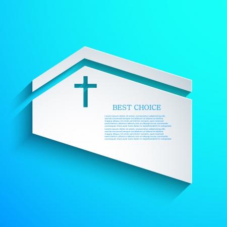 vector de fondo cristiano. Eps10 Ilustración de vector