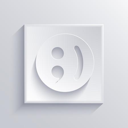 Vector light square icon. Eps 10 Vector