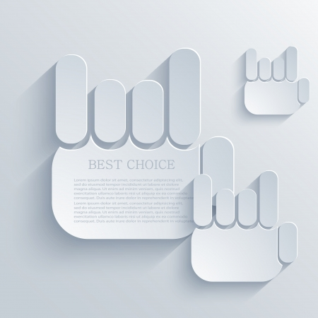 Vector thumb up icon background  Eps10 Stock Vector - 22452751