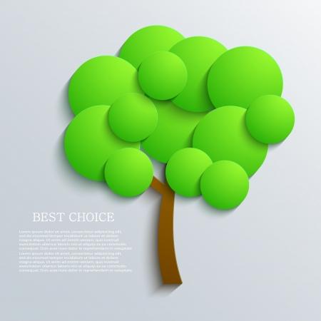 Vector tree background  Eps10
