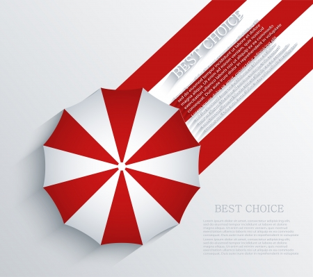 beach umbrella: Vector creative umbrella background  Eps10