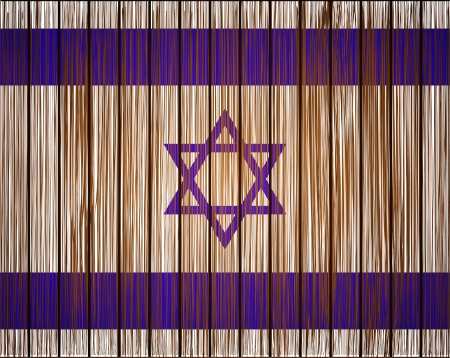 Vector grunge israel flag. Eps10 Vector