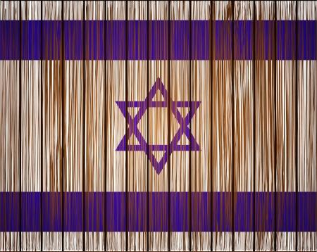 israelite: Vector grunge israel flag. Eps10