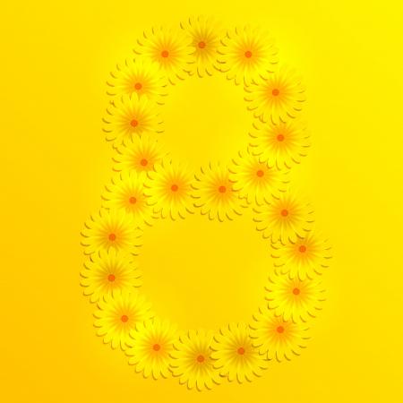 yellow  art: Vector de fondo para mujer d�a. Eps10 Vectores