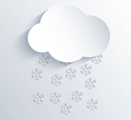 Vector cloud design element with place for your text. Eps10 Vector