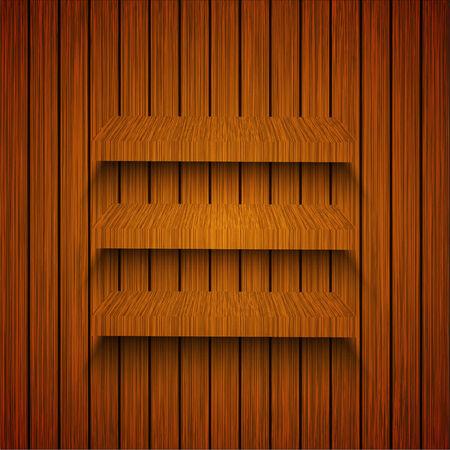 Vector ahelfs on wooden background. Eps10 Stock Vector - 23427307
