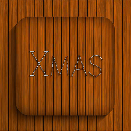 Vector christmas wooden app. Eps10 Vector