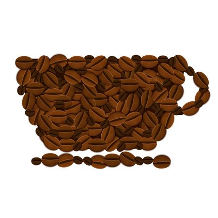 fond caf�: Vector caf� de fond. Eps10 Illustration