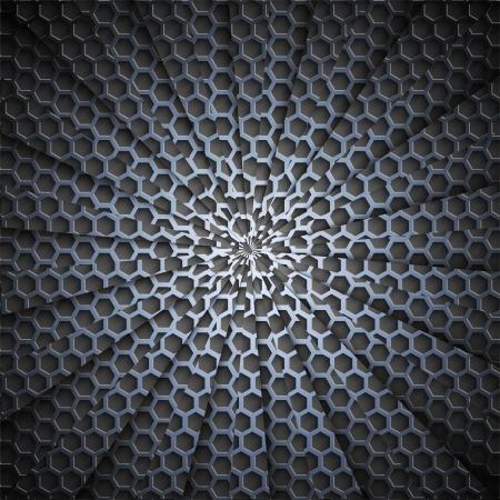 pavimento lucido: Vector metallo sfondo. Eps10