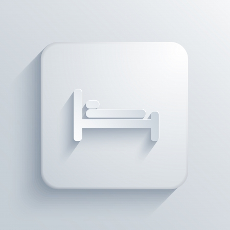 Vector light square icon.  Vector