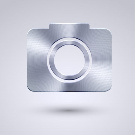 Vector full metal icon on blue  Vector