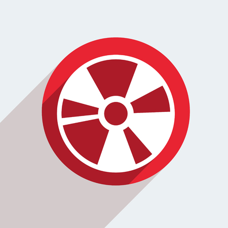 blueray: Vector red circle icon  on gray