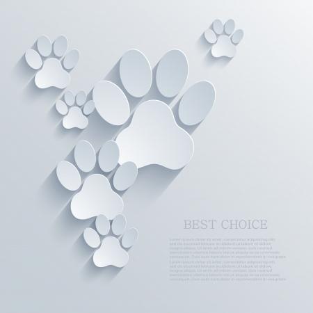 siluetas de animales: vector de la pata