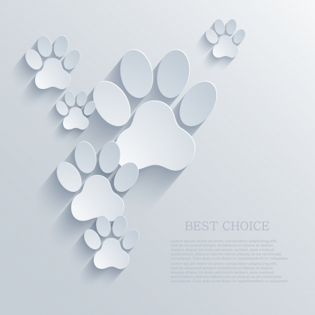 foot prints: vector paw Illustration