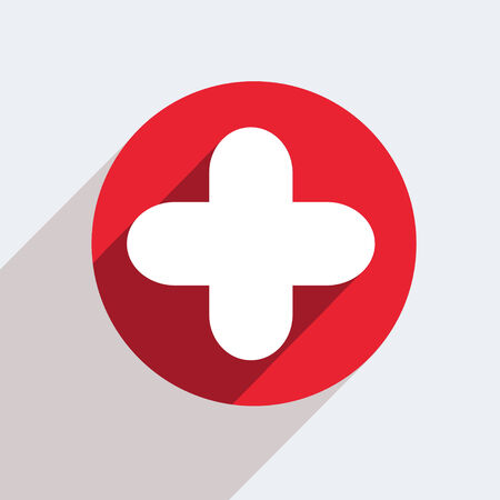 Vector red circle icon  on gray background   Illustration
