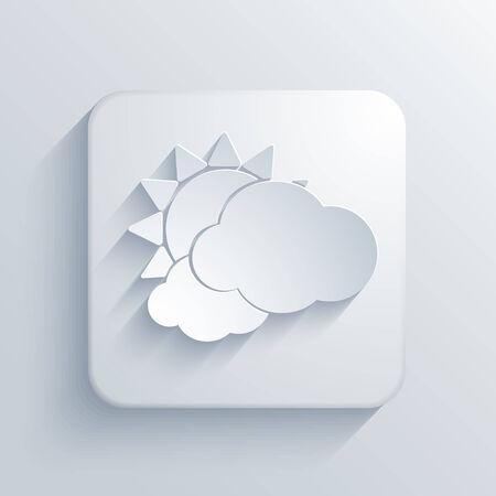 wheather forecast: Vector light square icon.  Illustration