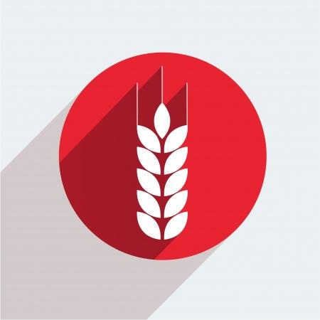 crop circle: Vector red circle icon  on gray