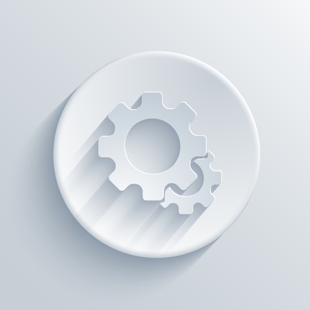 Vector light circle icon. Vector