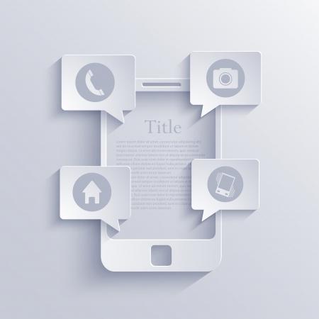 Vector smartphone icon  Illustration