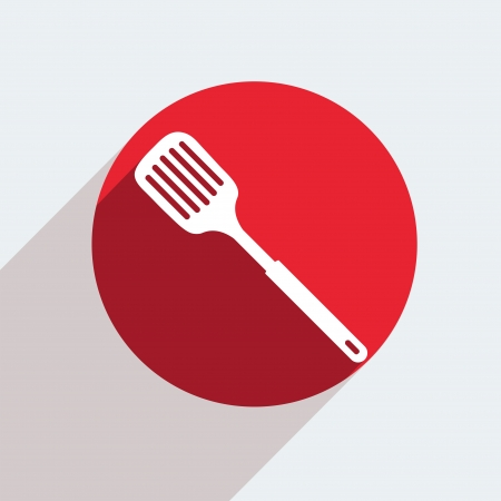 heatproof: Vector red circle icon  on gray