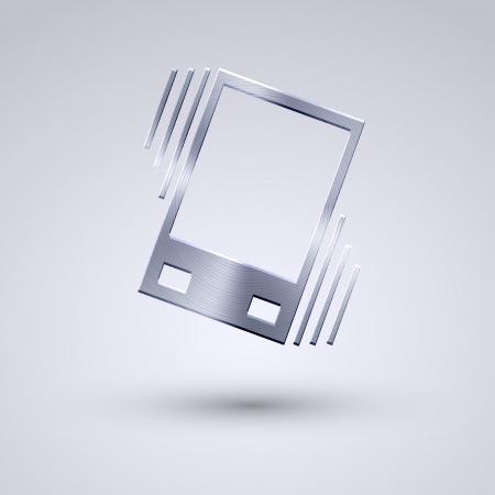 sleepiness: Vector full metal icon on blue