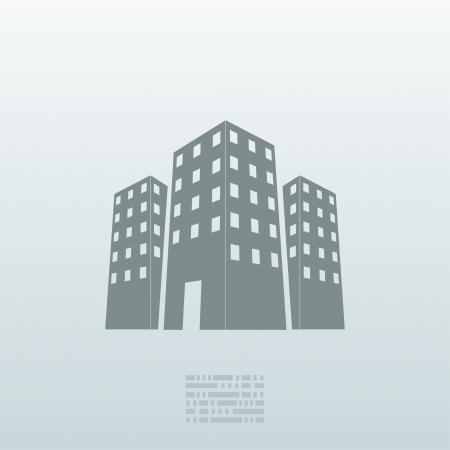Vector real estate icon background. Stock Illustratie