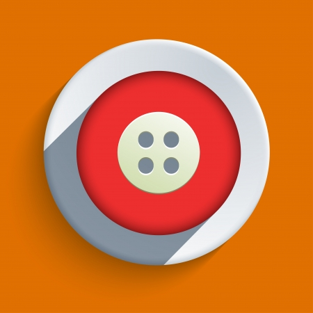 buttonhole: flat icon on orange background.