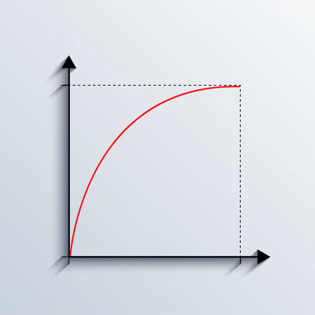 vector graph illustration. business background.  Vector