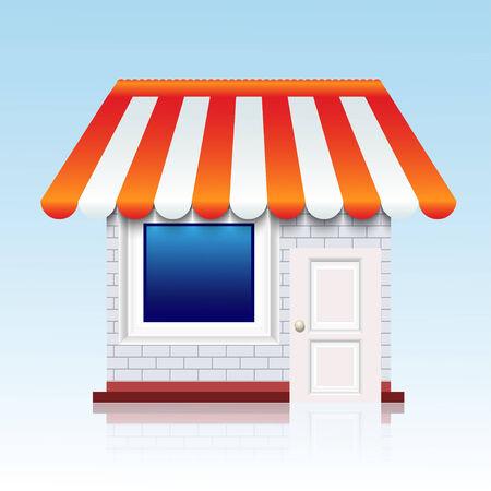 Vector shop icon background.  Vector