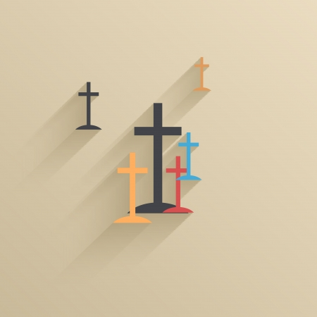 protestant: Vector creative flat ui icon background.