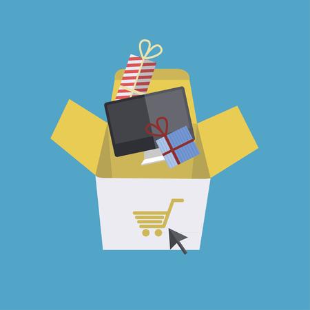 quantity: shopping with large quantity Illustration