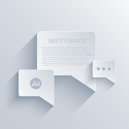 ui design: vector flat bubble speech background. Eps 10 Illustration