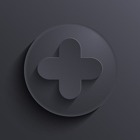 Vector modern dark circle icon. Eps10 Illustration