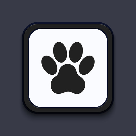 paw prints: Vector creative modern square icon. Eps 10