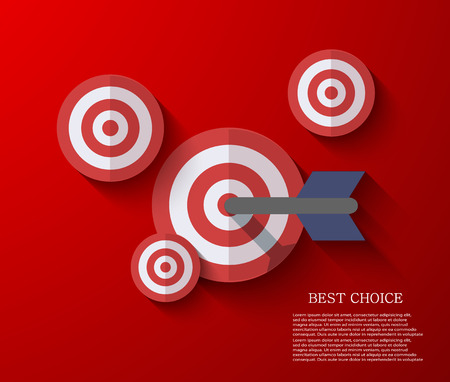 vector modern flat darts background. Eps 10 Vector