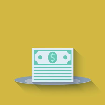 modern flat money background Vector