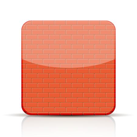 red brick app icon on white background Illustration