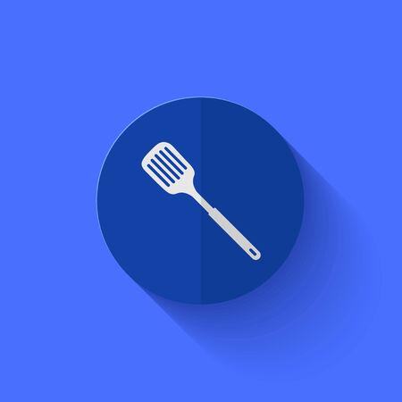 heatproof: Vector modern flat blue circle icon.
