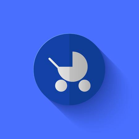 nursing mother: Vector modern flat blue circle icon.