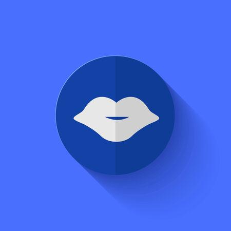 Vector modern flat blue circle icon. Eps10 Vector