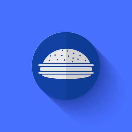 Vector modern flat blue circle icon. Eps10 Vector